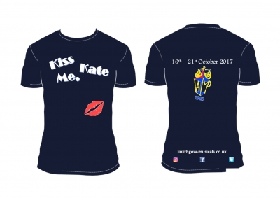 Kiss Me Kate Tshirt (Navy Blue)